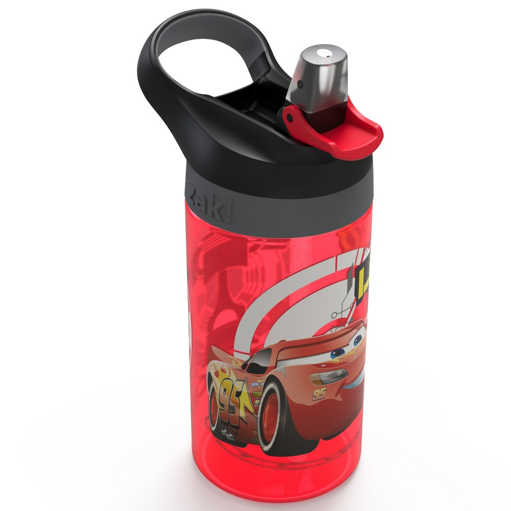 Image of Cars 16oz Plastic Water Bottle Red/Black - Zak Designs