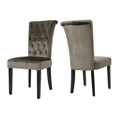 Set of 2 Venetian New Velvet Tufted Dining Chair - Christopher Knight Home