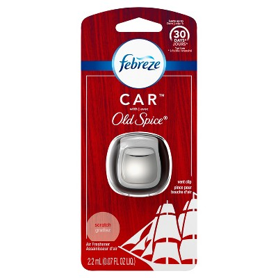 Febreze Car Odor-Eliminating Air Freshener Vent Clip - Original Old Spice Scent - 1ct