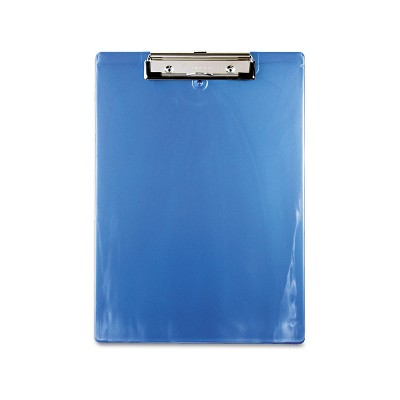 """Saunders Plastic Clipboard 1/2"""" Capacity Holds 8 1/2w x 12h Ice Blue 00439"""