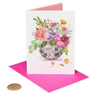 Card Friendship Disco Ball Flowers - PAPYRUS