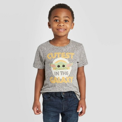 Toddler Boys' Star Wars Baby Yoda Short Sleeve T-Shirt - Heather Gray