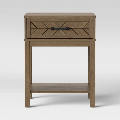 Eastford Nightstand with Drawer Brown - Threshold™