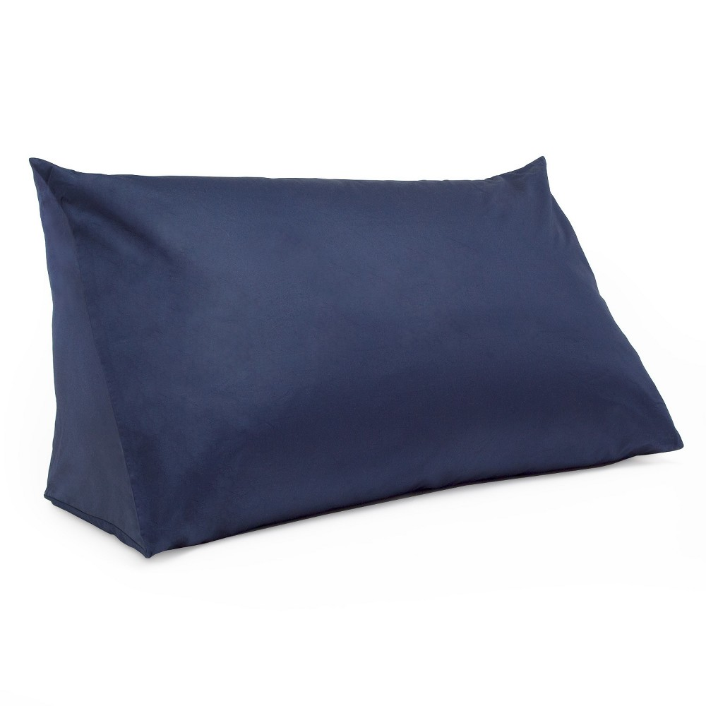 Image of Reading Wedge Pillow Cover Navy (Blue) - Downlite