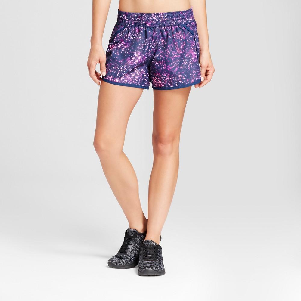 Women's Run Shorts - C9 Champion - Purple/Starry Dot Print L