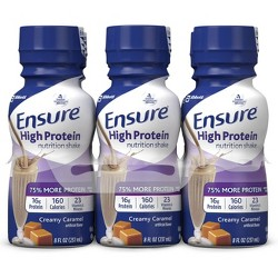Ensure High Protein Nutrition Shake - Caramel - 8 fl oz/6ct