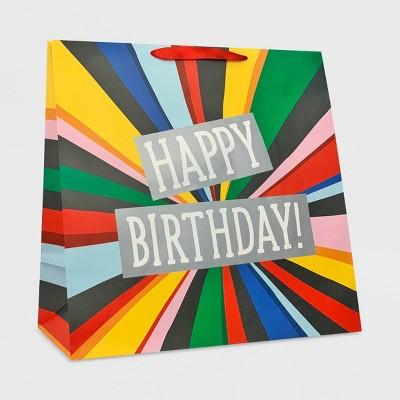 """XLarge """"Happy Birthday"""" Burst Colossal Gift Bag - Spritz™"""