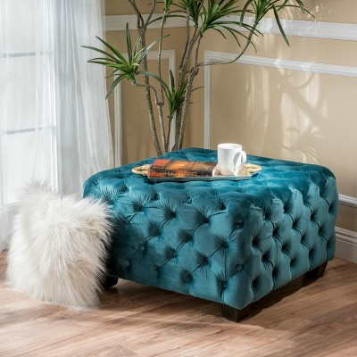 Piper Tufted Square Ottoman Bench - Christopher Knight Home : Target
