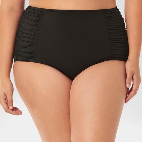 a3cbf0c496 Beach Betty by Miracle Brands Women s Plus Size Slimming Control High Waist  Bikini Swim Bottom - Black
