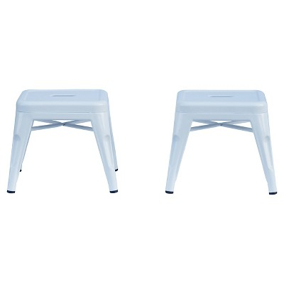 Enjoyable Metal Kids Stool Set Of 2 White Reservation Seating By Ace Bayou Alphanode Cool Chair Designs And Ideas Alphanodeonline