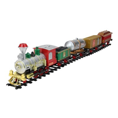 Northlight 17-Piece Battery Operated Lighted and Animated Christmas Express Train Set with Sound