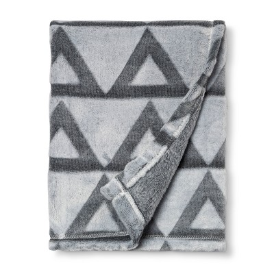 Embossed Baby Blanket Triangle - Cloud Island™ Gray