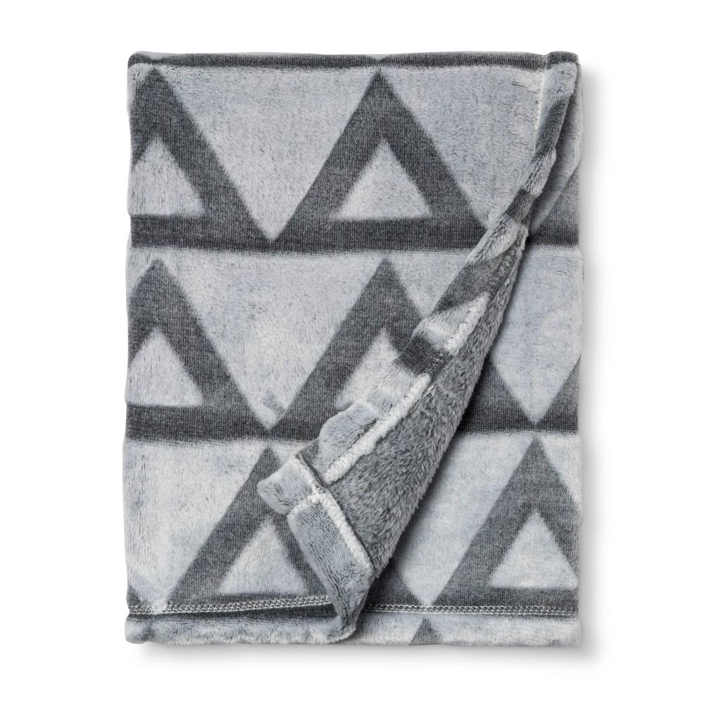 Embossed Baby Blanket Triangle - Cloud Island Gray
