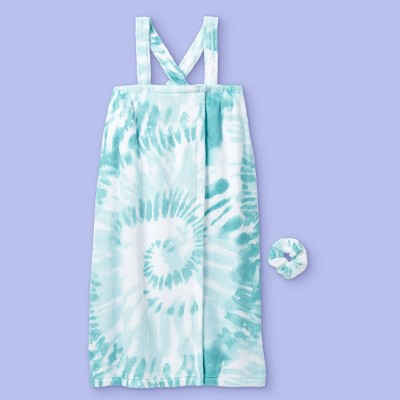Girls' Tie-Dye Spa and Bath Robe - More Than Magic™ Teal