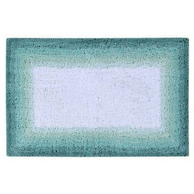 """21""""x34"""" Torrent Collection 100% Cotton Bath Rug Turquoise - Better Trends"""