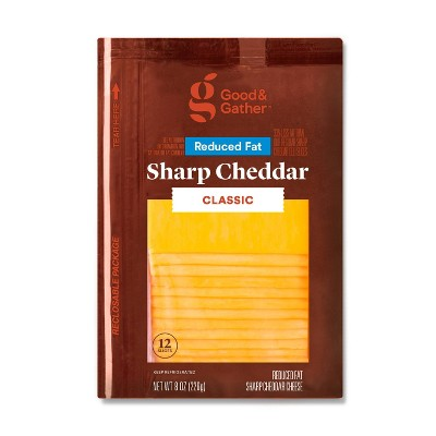 Reduced Fat Sharp Cheddar Deli Sliced Cheese - 8oz/12 slices - Good & Gather™