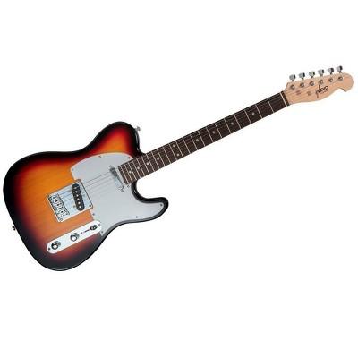 Monoprice Indio Retro Classic Electric Guitar - Sunburst, With Gig Bag