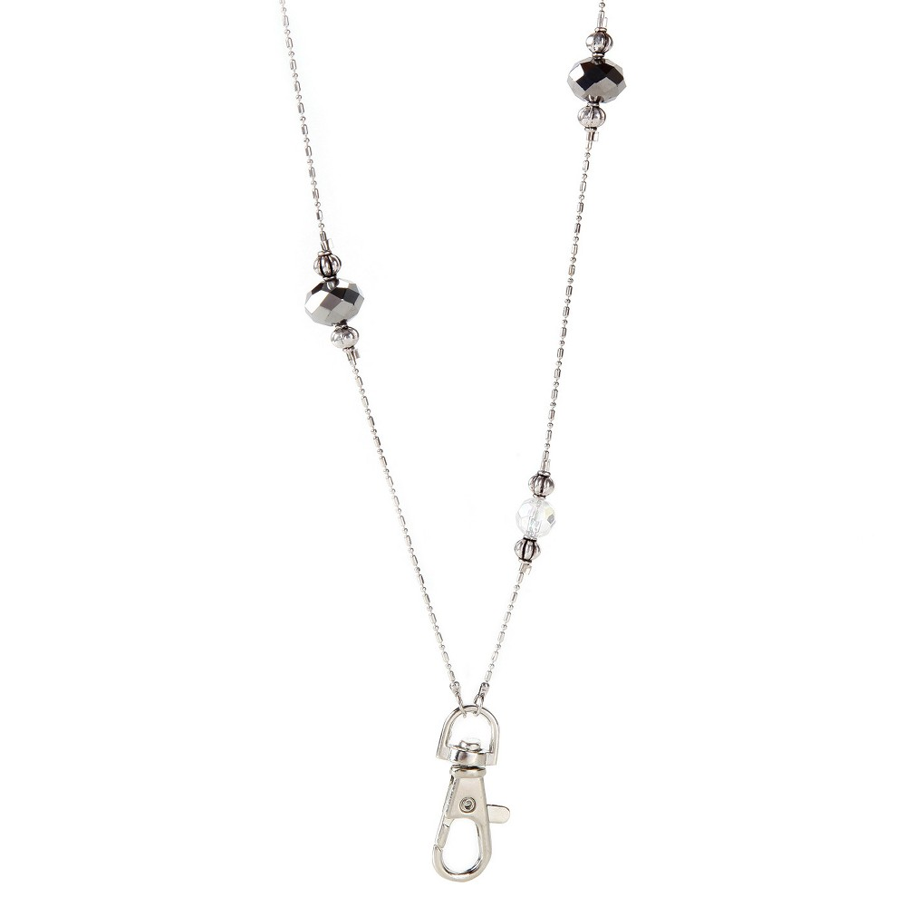 Image of ID Avenue Beaded Lanyard Beverly Hills, Silver