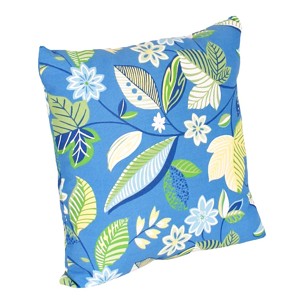 Image of 2-Piece Outdoor Toss Pillow Set - Blue/Green Floral 14