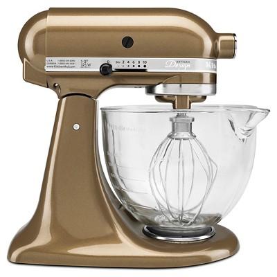 KitchenAid Artisan Design Series 5 Quart Tilt-Head Stand Mixer with Glass Bowl - KSM155GB