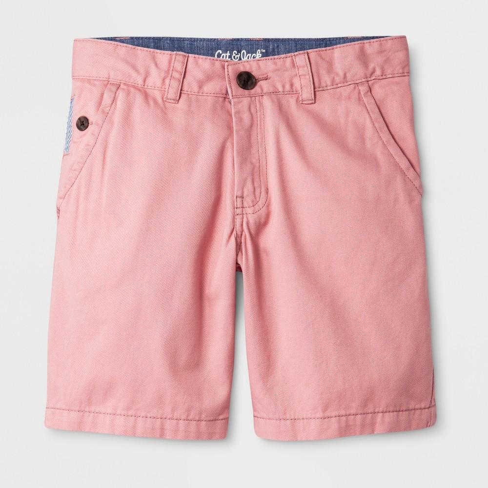 Boys' Chino Shorts - Cat & Jack Pink 8 Husky