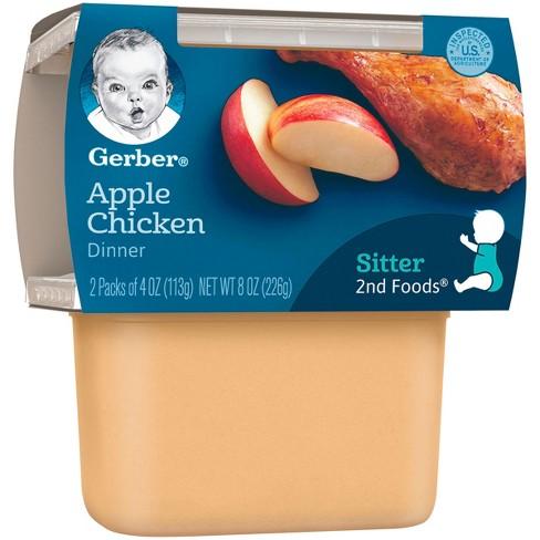 Gerber 2nd Foods Apples And Chicken 4oz 2ct Target