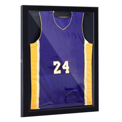 "HomCom 24"" x 32"" Sports Jersey Memorabilia Shadow Box Frame Display Case"