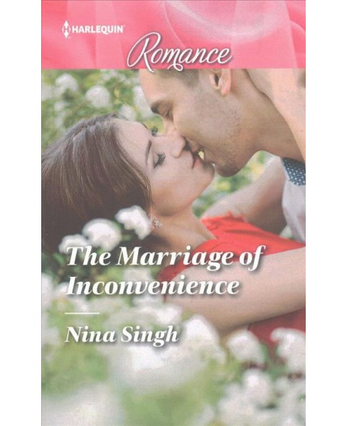 Marriage of Inconvenience -  Large Print (Harlequin Romance) by Nina Singh (Paperback) - image 1 of 1