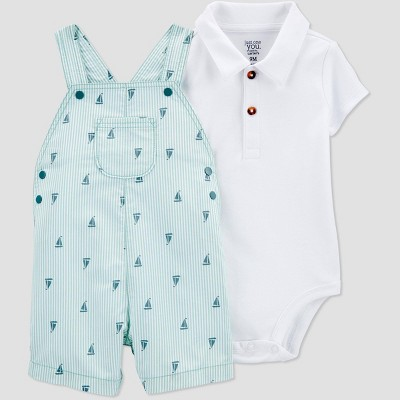 Baby Boys' 2pc Sail Boat Top & Bottom Set - Just One You® made by carter's Blue 3M