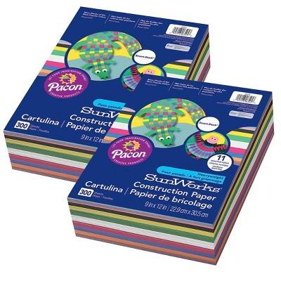 2pk 300 Sheets/Pk SunWorks Construction Paper 11 Colors - Pacon