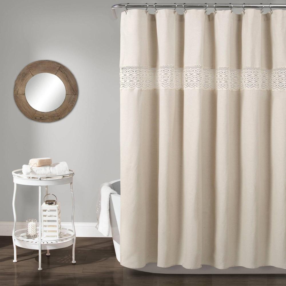 Dana Lace Shower Curtain Neutral - Lush Decor