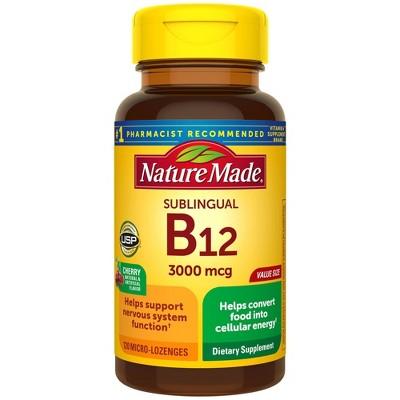 Nature Made Sublingual Vitamin B12 3000 mcg Micro - Lozenges - 120ct