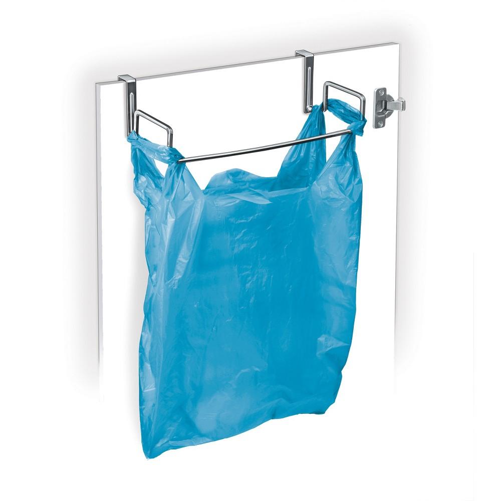 Lynk Professional Over Cabinet Door Organizer - Plastic Bag Holder Chrome (Grey)