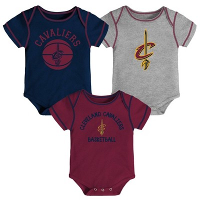 NBA Cleveland Cavaliers Baby Boys' Rookie Bodysuit Set 3pk