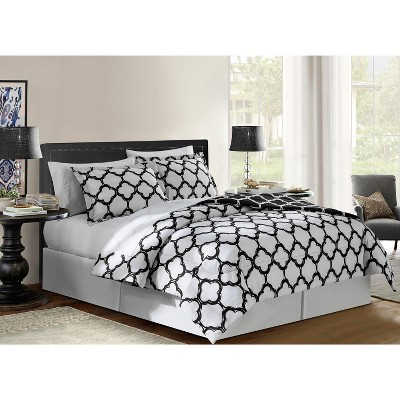 VCNY Home Galaxy Reversible Bed in a Bag Comforter Set - 8 Piece King - Black