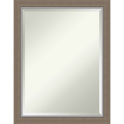 "21"" x 27"" Eva Framed Bathroom Vanity Wall Mirror Brown - Amanti Art"