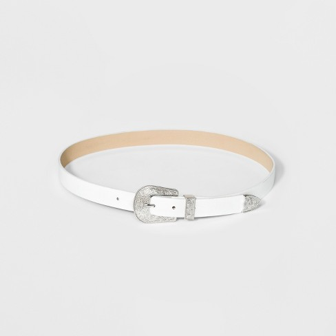 Women's Western Belt - Wild Fable™ White - image 1 of 2