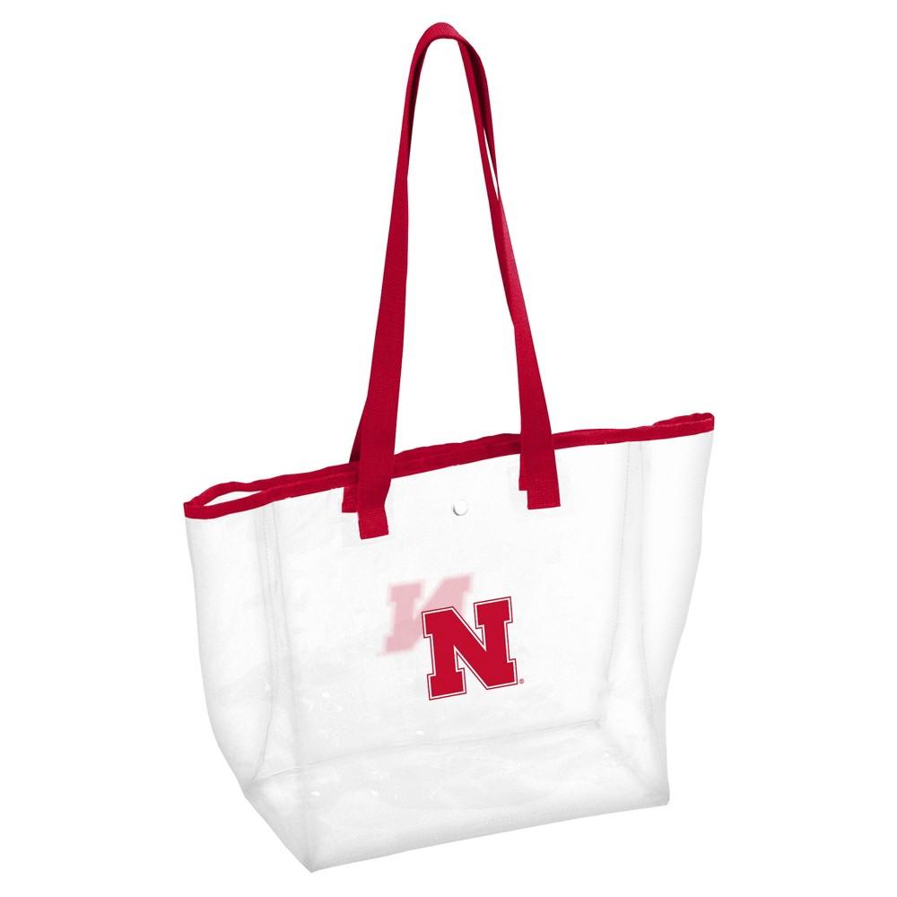 NCAALogo Brands PVC Stadium Tote Bag Nebraska Cornhuskers, Adult Unisex