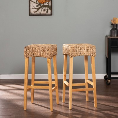 Set of 2 Palzeta Counter Height Barstools Natural - Aiden Lane