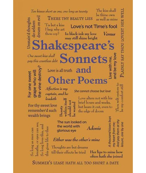 Shakespeares Sonnets And Other Poems Paperback William