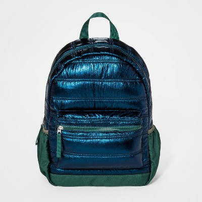 Boys' Iridescent Puffer Backpack - Cat & Jack™ Teal