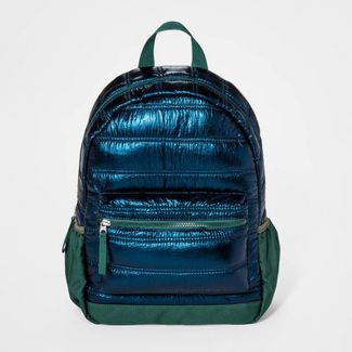 Boys' Iridescent Puffer Backpack - Cat & Jack™ Teal