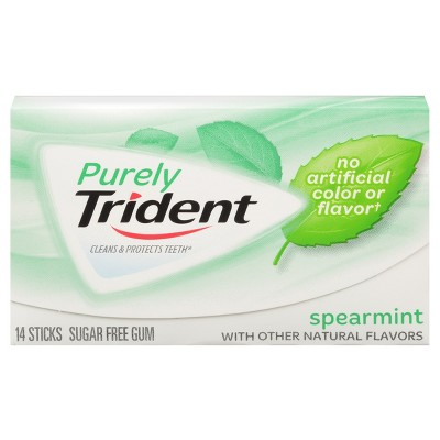 Trident Spearmint Chewing Gum - 14ct