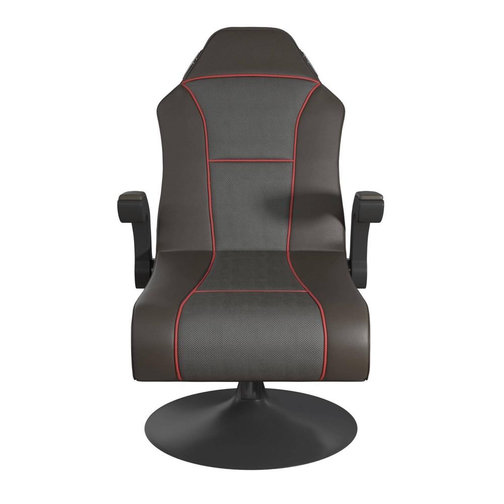 Image of Blaze Video Rocker Gaming Chair Dark Gray/Red - Room & Joy
