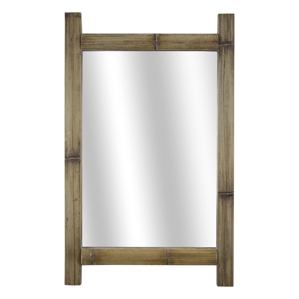 "Image of ""16.14x1.57""""x25.98"""" Wood Wall Mirror Brown - E2 Concepts"""