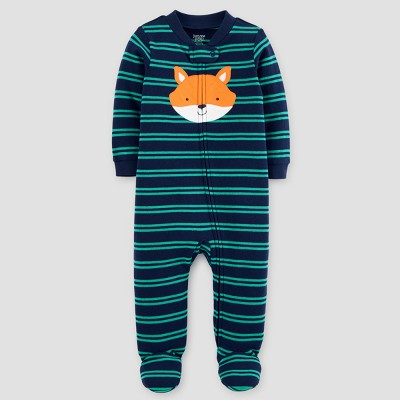 Baby Boys' Cotton Striped Fox Sleep N' Play - Just One You™ Made by Carter's® Blue Newborn