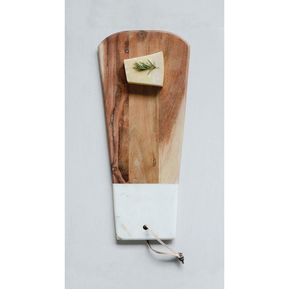 Cutting Board Wood / Marble - 3R Studios, Brown