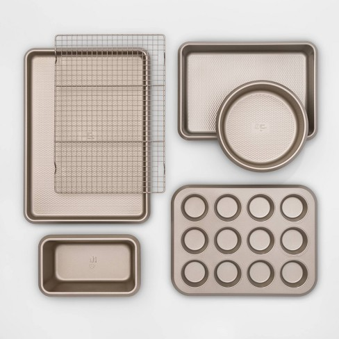 6pc Aluminized Steel Bakeware Set Gold - Made By Design™ - image 1 of 4