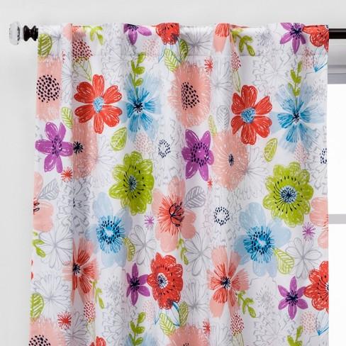 Nature Study Print Blackout Window Curtain Panel - Pillowfort™ - image 1 of 6