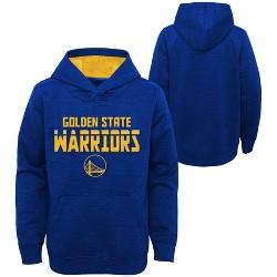 NBA Golden State Warriors Boys' Jump Shot Raglan Performance Hoodie - Gray